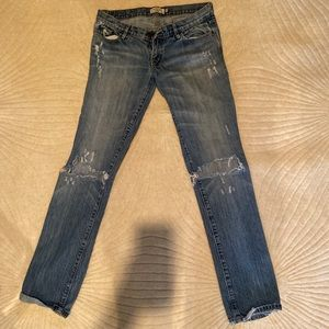 Abercrombie & Fitch distressed skinny